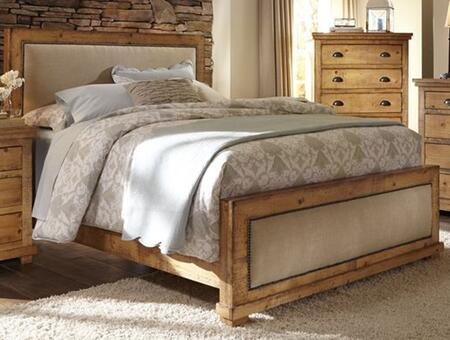 Willow P608-34-35-78 Queen Upholstered Bed with Headboard  Footboard and Side Rails in Distressed