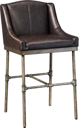 Starmore Collection D633-330 30 inch  Barstool with Faux Leather Upholstery  Wing Back Design and Pipe-Fitter Metal Frame in