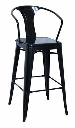 8020-BS-BLK Galvanized Steel Bar Stool in