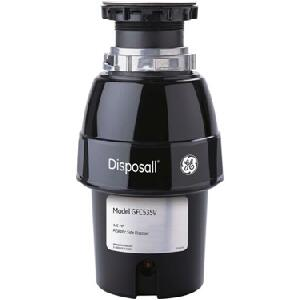 GFC535V 1/2 HP Continuous Feed Waste Disposer with 2 800 RPM  Overload Protector  2 Level Precutter  Jam Resistant and Stainless Turntable: Line