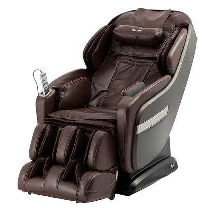 OS-Pro Summit BROWN Massage Chair with S L Combo Massage Track  Dual Foot Roller Massage  Air Intensity Adjustment  USB Charging  Space Saving Technology and