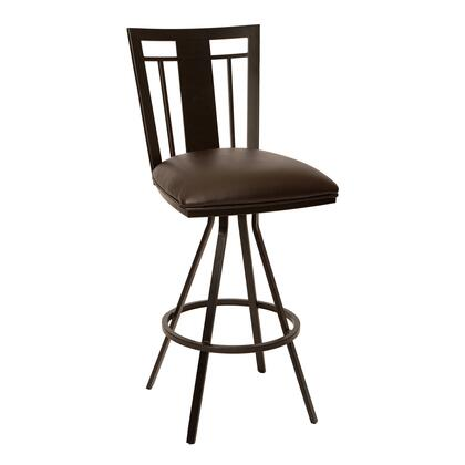 LCCL30BABR Cleo 30 inch  Transitional Barstool In Coffee and Auburn Bay