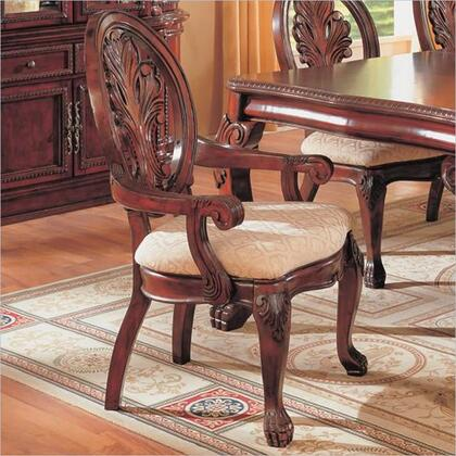 101033 Tabitha Traditional Dining Arm Chair in Cherry 212897