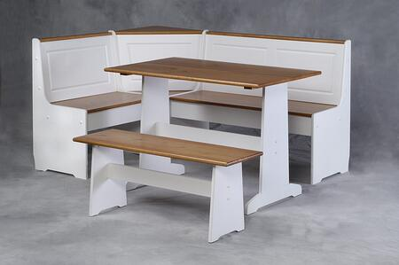 K90305WHT-AB-KD-U Ardmore Nook White With Pine