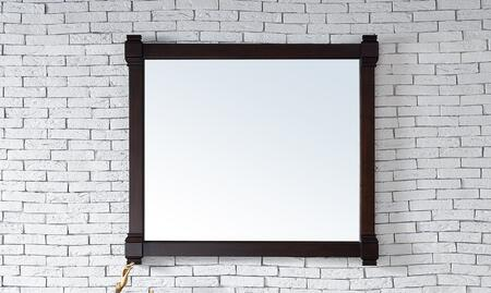 Brittany Collection 650-M43-BNM 43 inch  x 39 inch  Mirror with Solid Kiln-Dried Wood Frame and Molding Details in Burnished