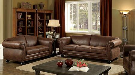 Joni Collection CM6194-SL 2-Piece Living Room Set with Stationary Sofa and Loveseat in
