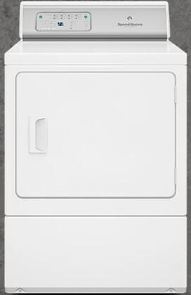 "ADEE8RGS 27"" ADA Compliant Button Control Front Load Electric Dryer with 7.0 Cu. Ft. Capacity  Reversible Door  6 Preset Cycles  Moisture Sensor  Interior"