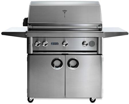 "SMART36F-NG 36"" Professional Series Freestanding Natural Gas Smart Grill on Cart with 3 Trident ProSear2 Infrared Burners  935 sq. in. Cooking Surface  Smart"
