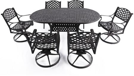 SCD003-02 7-Piece Cast Aluminum Patio Dining Set with 72
