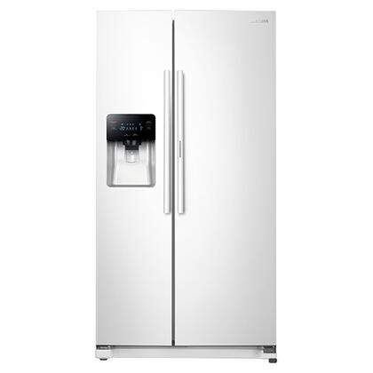 Samsung 24.7 Cu. Ft. Side-by-Side Refrigerator White RH25H5611WW