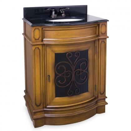 VAN050-T 29 inch  Abbott Toffee Vanity with Preassembled Top and