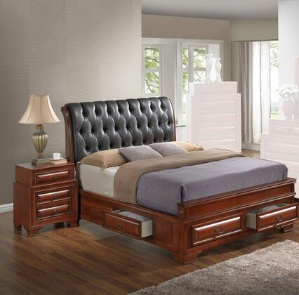 G8850E-FB5BEDROOMSET 2-Piece Bedroom Set with Full Size Storage Bed + Nightstand  in