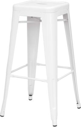 8015-BS-WHT 30 Galvanized Steel Bar Stool in