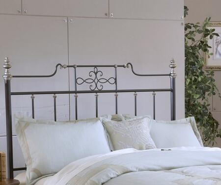 Amelia 1641BQR Queen Sized Bed with Headboard  Footboard and Frame  Intricate Scroll Work and Tubular Steel Construction in Frosted