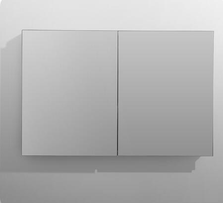 Royale R4830 48 inch  x 30 inch  Medicine Cabinet with 5mm Copper Free Mirror Glass  Mirrored Interior Back Wall  3 Adjustable Glass Shelves and Soft Close Blum