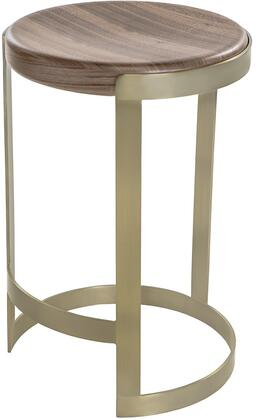 2310160NW Caroline Barstool with Natural Walnut Seat and Brushed Champagne Stainless Steel