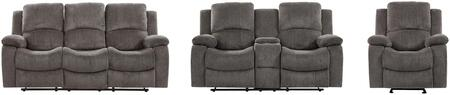 U3118C - SUBARU MOCHA - RSCRLSGR 3-Piece Living Room Set with Reclining Sofa  Reclining Loveseat and Recliner in Subaru