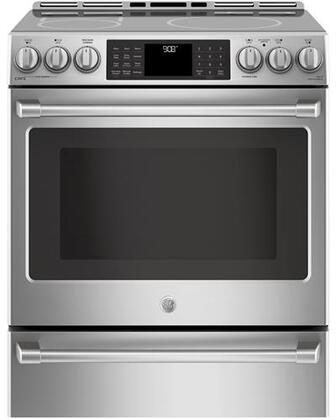 CHS985SELSS 30 inch  Slide In Induction Range with 5.6 cu. ft. Capacity  Wi-Fi Connect  Temperature Probe  and Self-Cleaning  in Stainless