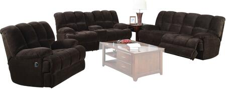 Ahearn 50475SLR 3 PC Living Room Set with Sofa + Loveseat + Recliner in Chocolate Champion