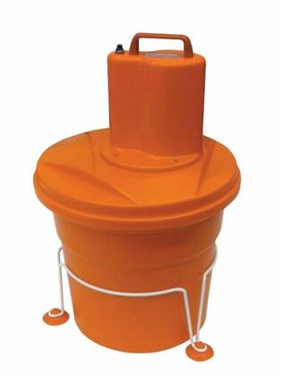 E003.1.B EM98 Electric Salad Spinner With Stabilizing base SSB1  500 RPM  5 Gallon Basket  8 Heads of Lettuce Capacity  in