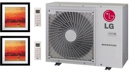 LMU30CHVPACKAGE15 Dual Zone Mini Split Air Conditioner System with 18000 BTU Cooling Capacity  2 Indoor Units  and Outdoor 704168