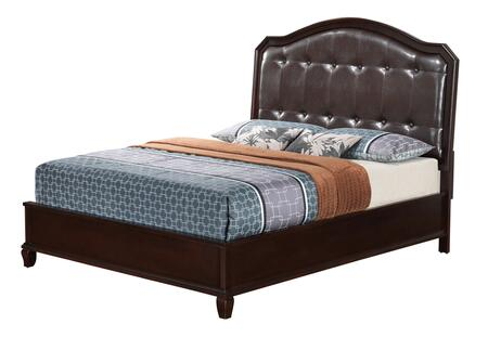 G9000A-QB Glory Furniture Queen Size Bed with Molding Details  Tufted Details and Tapered Leg  in