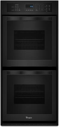 Whirlpool WOD51ES4EB 24 Electric Double Wall Oven with 6.2 cu. ft. Total Capacity AccuBake Temperature Management System Touch Control Digital Display Keep Warm Setting and Self-Cleaning System in