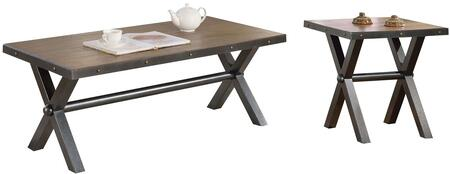 Earvin Collection 822302 2 PC Living Room Table Set with 48