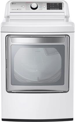 "DLEX7600WE 27"""" Front Load Super Capacity Electric Dryer with 7.3 cu. ft. Capacity  14 Drying Programs  TurboSteam Technology  SmartDiagnosis  Child Lock"" 665365"