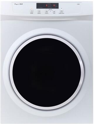 ED860V Compact Dryer with 13 lb. Capacity  Stainless Steel Drum with Wrinkle Guard  High Speed Turbo Fun  Door Safety Switch  Overheating Protection in White