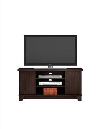 48648 47 inch  Vaughn TV Stand with 2 Doors and 2 Adjustable Shelves in Dark