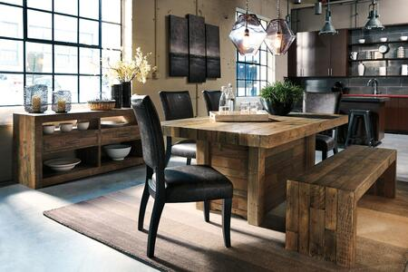 Sommerford Collection 7-Piece Dining Room Set with Rectangular Dining Table  4 Side Chairs  Bench and Server in