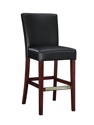 273-847 Black Bonded Leather Bar Stool  30-1/4 Seat