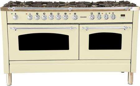 HGR6001DFAW 60 inch  Dual Fuel Natural Gas Range with 8 Sealed Burners  5.99 cu. ft. Total Capacity True Convection Oven  Griddle  in Antique