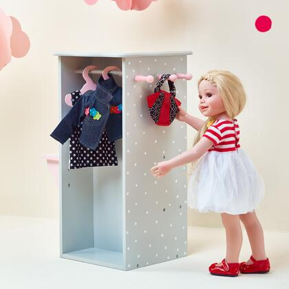 TD0094AG 18 inch Doll Furniture - Dresser with 3 Hangers