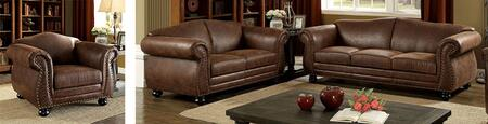 Joni Collection CM6194-SLC 3-Piece Living Room Set with Stationary Sofa  Loveseat and Chair in