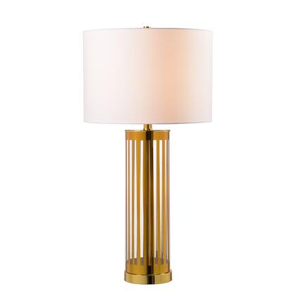 Pinstripe 33214GLD Table Lamp with 3-Way Socket Switch  14.5