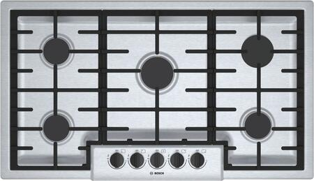 Bosch NGM5656UC 500 Series 36 Stainless Steel 5 Burner Gas Cooktop