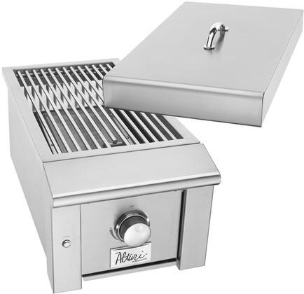 Alturi Sear Side Burner in Natural Gas with LED Illumination  304 Stainless Steel Construction  Heavy-Duty Stainless Steel Grate  15000 BTU  in Stainless