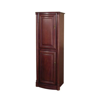WIS1754 Wingate Collection Matching Linen Cabinet with Adjustable Shelves in a Premium Deep Cherry
