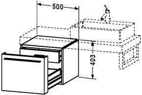 954201 Floor Wooden Vanity Cabinet from Fogo