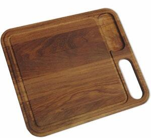 KB-40S Iroko Solid Wood Cutting Board for KBX Series