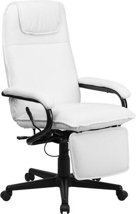 BT-70172-WH-GG High Back White Leather Executive Reclining Office