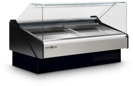 KFMSF40S Seafood Case with Ice Pans with 15.35 Cu. Ft. Capacity  3/8 HP  Designed for Seafood  in