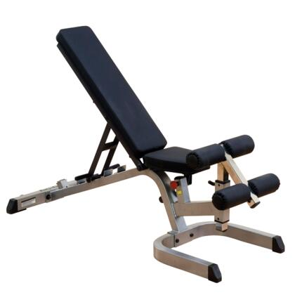 GFID71 Body Solid Heavy-Duty Flat  Incline  and Decline Bench with 8-Position Seat and DuraFirm Seat and Back