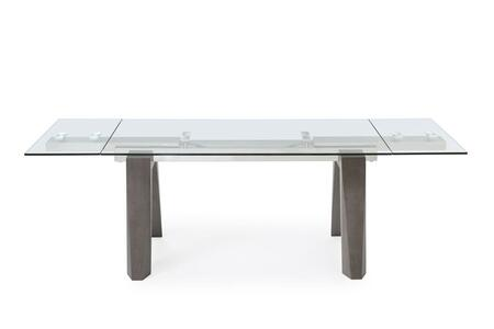 DT1237GRY Valencia Extendable Dining Table 1/2