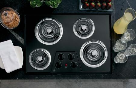 "GE 30"" Built-In Electric Cooktop Black JP328BKBB"