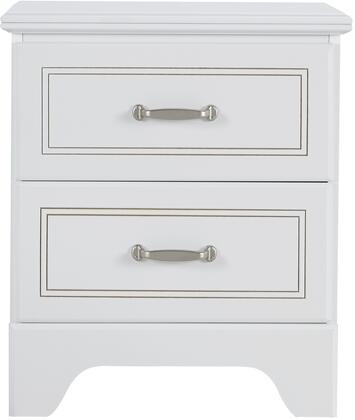 Claire Collection 67057 21 inch  Nightstand with 2 Drawers  Metal Hardware  Medium-Density Fiberboard