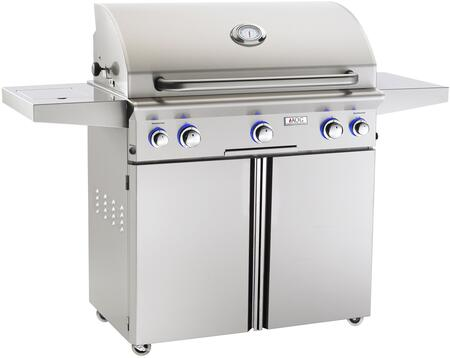 36NCL 62 inch  Freestanding Gas Grill with 648 sq. in. Cooking Surface  Analog Thermostat  Three 16500 Btu Burners  in Stainless Steel