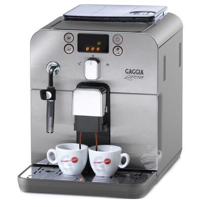 Gaggia Brera 59100 Brewer - 1400 W - 15 bar - 1.27 quart Grinder - Coffee Strength Setting - Silver, Stainless Steel